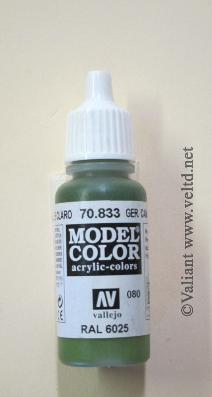 70833 Vallejo Model Color Paint: 17ml  German Camo Bright Green  (M080)