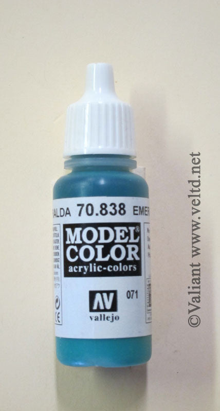 70838 Vallejo Model Color Paint: 17ml  Emerald Green  (M071)