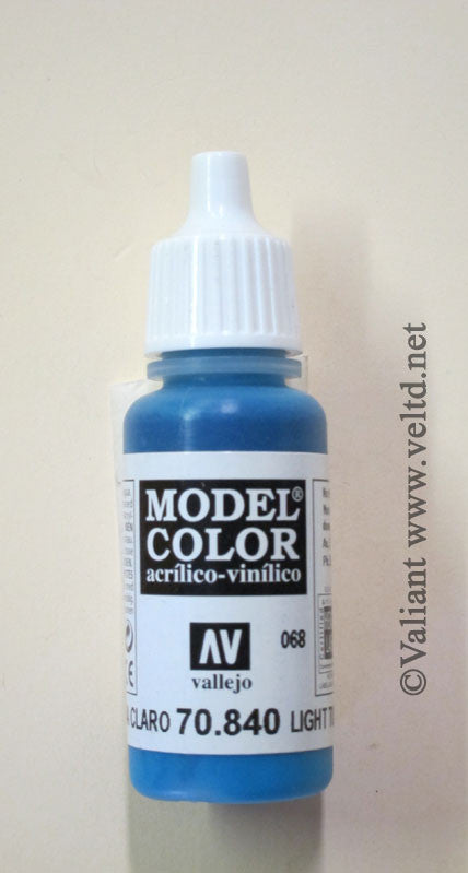 70840 Vallejo Model Color Paint: 17ml  Light Turquoise  (M068)