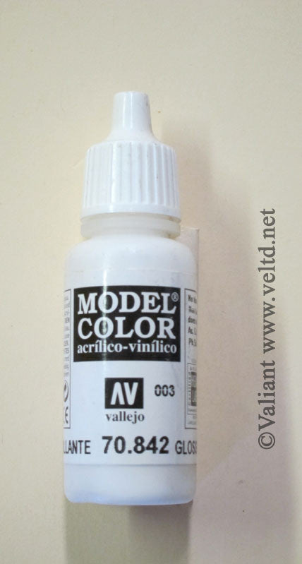 70842 Vallejo Model Color Paint: 17ml  Gloss White  (M003)