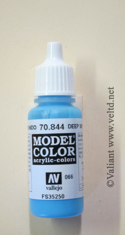 70844 Vallejo Model Color Paint: 17ml  Deep Sky Blue  (M066)