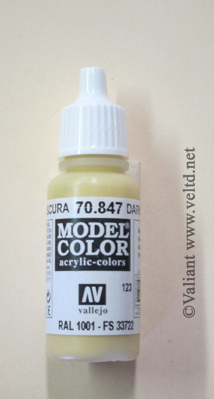 70847 Vallejo Model Color Paint: 17ml  Dark Sand  (M123)