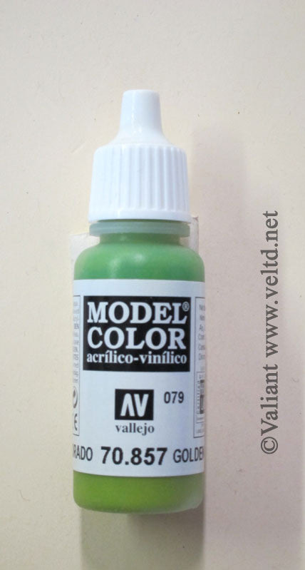 70857 Vallejo Model Color Paint: 17ml  Golden Olive  (M079)