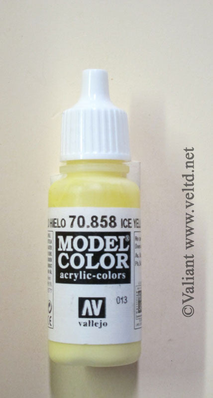 70858 Vallejo Model Color Paint: 17ml  Ice Yellow  (M013)