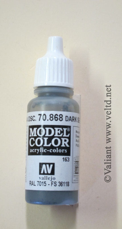 70868 Vallejo Model Color Paint: 17ml  Dark Sea Green  (M163)