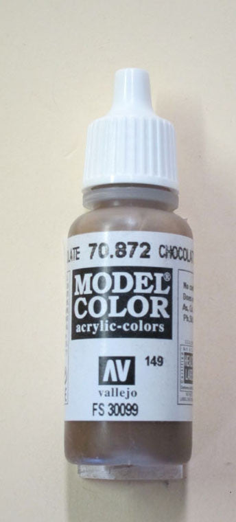 70872 Vallejo Model Color Paint: 17ml  Chocolate Brown  (M149)