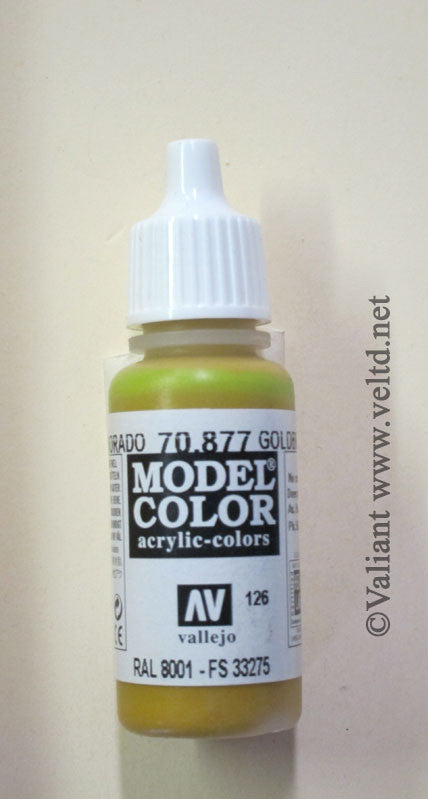 70877 Vallejo Model Color Paint: 17ml  Golden Brown  (M126)