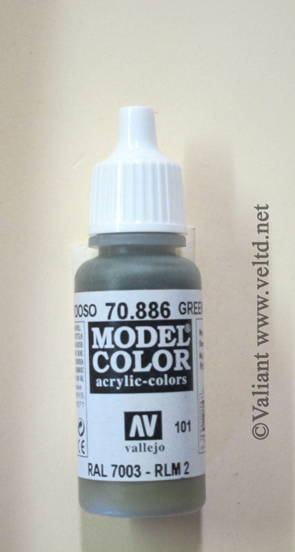 70886 Vallejo Model Color Paint: 17ml  Green Grey  (M101)