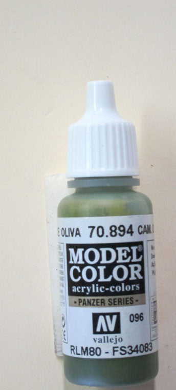70894 Vallejo Model Color Paint: 17ml  Camo Olive Green  (M096)