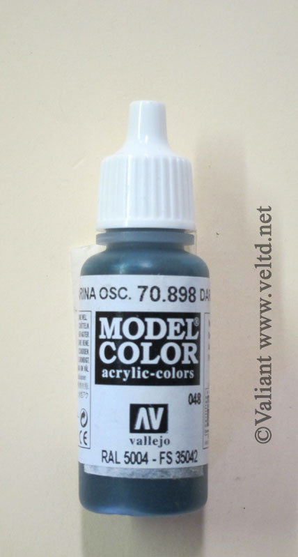 70898 Vallejo Model Color Paint: 17ml Dark Sea Blue  (M048)