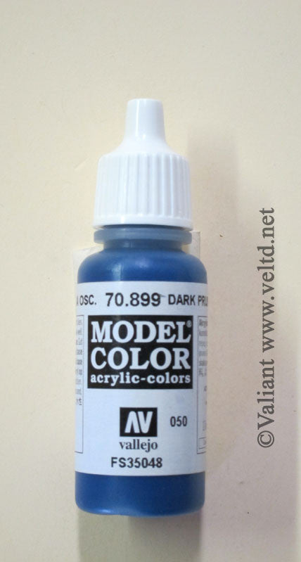 70899 Vallejo Model Color Paint: 17ml  Dark Prussian Blue  (M050)