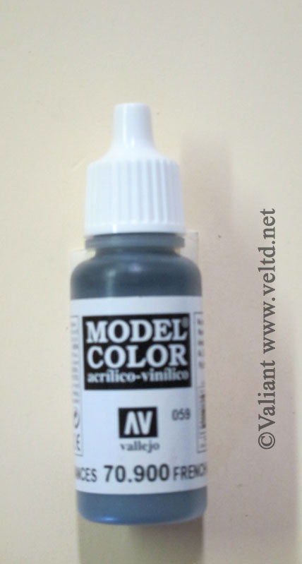 70900 Vallejo Model Color Paint: 17ml  French Mirage Blue  (M059)