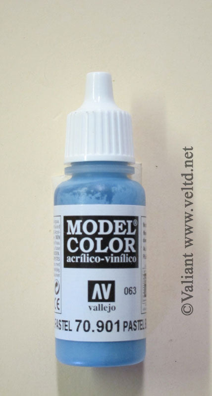 70901 Vallejo Model Color Paint: 17ml  Pastel Blue  (M063)