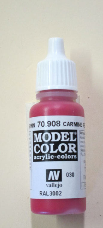 70908 Vallejo Model Color Paint: 17ml  Carmine Red  (M030)