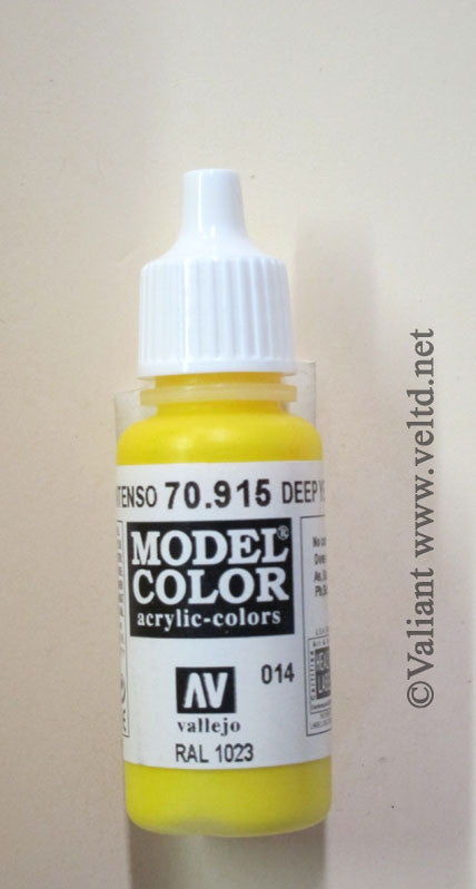 70915 Vallejo Model Color Paint: 17ml Deep Yellow  (M014)