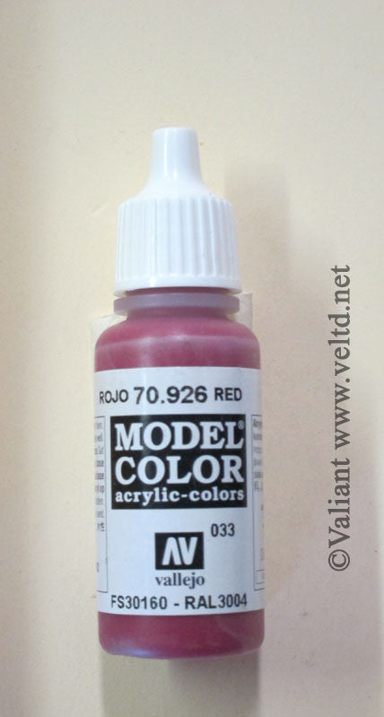 70926 Vallejo Model Color Paint: 17ml  Deep Red  (M033)