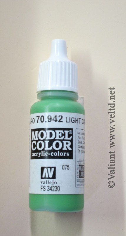 70942 Vallejo Model Color Paint: 17ml  Light Green  (M075)