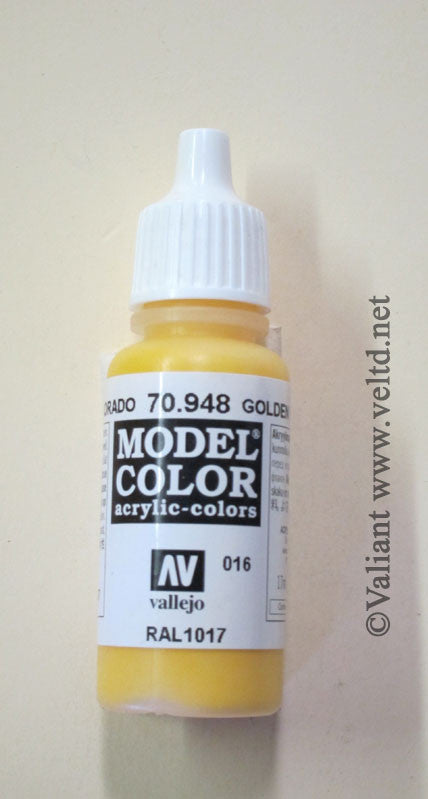 70948 Vallejo Model Color Paint: 17ml Golden Yellow  (M016)