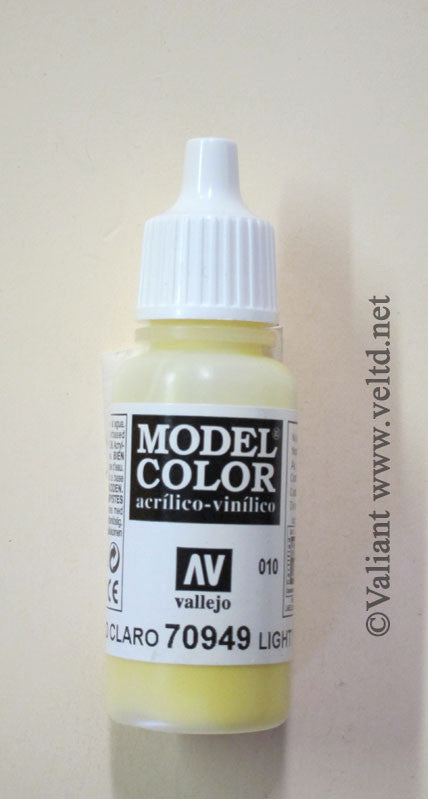 70949 Vallejo Model Color Paint: 17ml  Light Yellow  (M010)