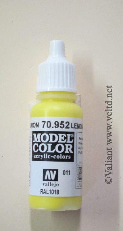 70952 Vallejo Model Color Paint: 17ml  Lemon Yellow  (M011)
