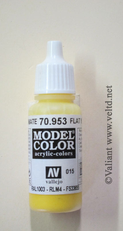 70953 Vallejo Model Color Paint: 17ml  Flat Yellow  (M015)