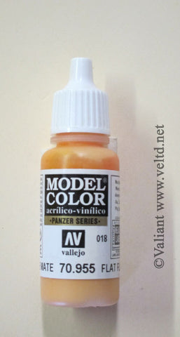 70955 Vallejo Model Color Paint: 17ml Flat Flesh  (M018)