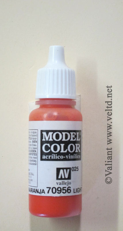 70956 Vallejo Model Color Paint: 17ml  Orange  (M025)