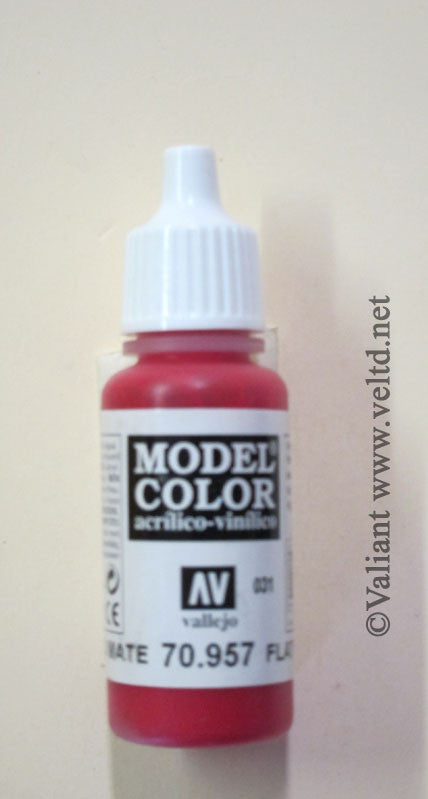 70957 Vallejo Model Color Paint: 17ml  Flat Red  (M031)