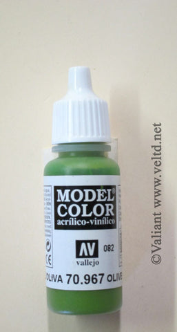 70967 Vallejo Model Color Paint: 17ml  Olive Green  (M082)
