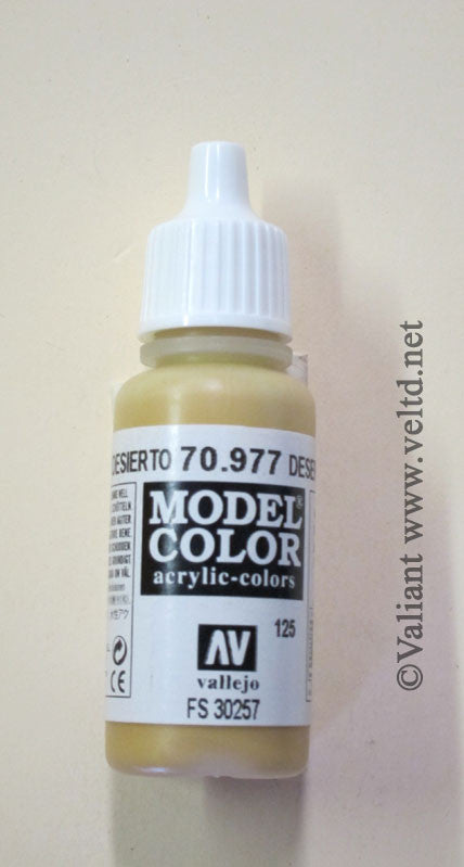 70977 Vallejo Model Color Paint: 17ml  Desert Yellow  (M125)