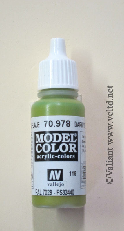 70978 Vallejo Model Color Paint: 17ml  Dark Yellow  (M116)