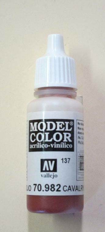 70982 Vallejo Model Color Paint: 17ml  Cavalry Brown  (M137)