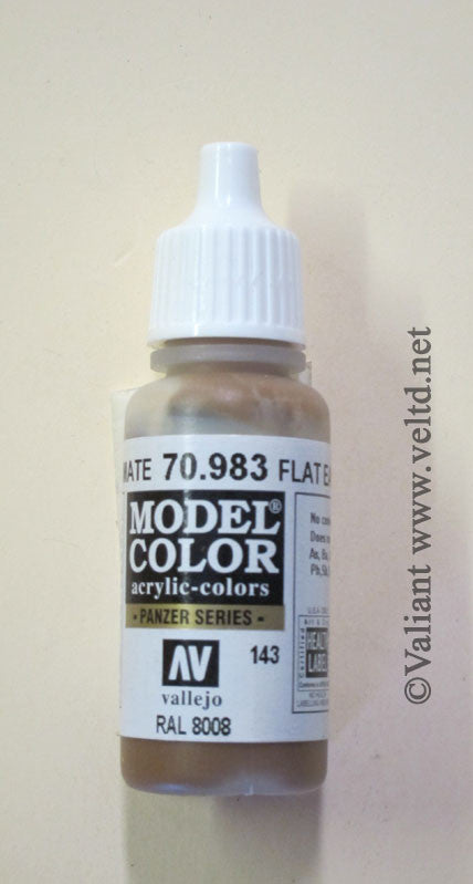 70983 Vallejo Model Color Paint: 17ml Flat Earth  (M143)