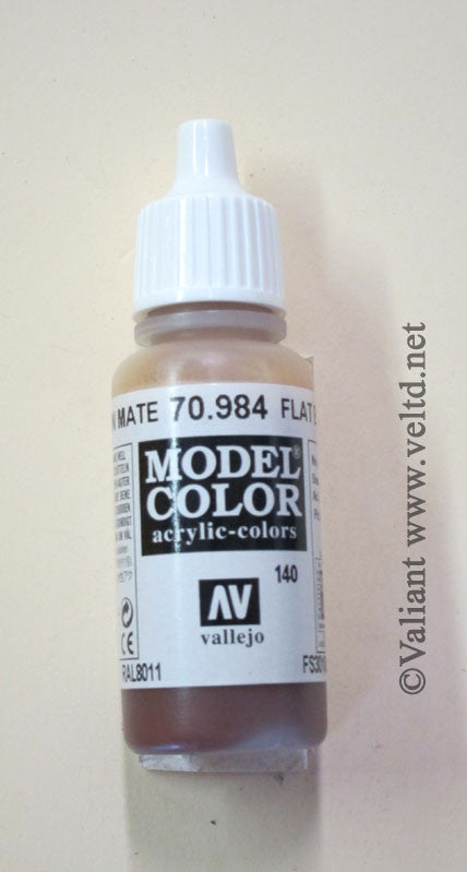 70984 Vallejo Model Color Paint: 17ml Flat Brown  (M140)
