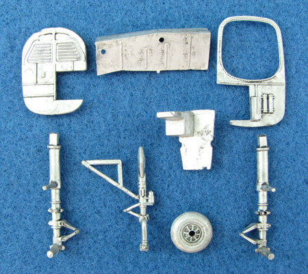SAC 72010 B-25 Mitchell Landing Gear For 1/72nd Scale Hasegawa Model
