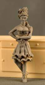 Kit# 9503 - Dance Hall Girl Standing - Resin