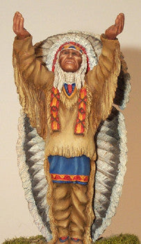 Kit# 9906 - American Indian Chief (100mm)