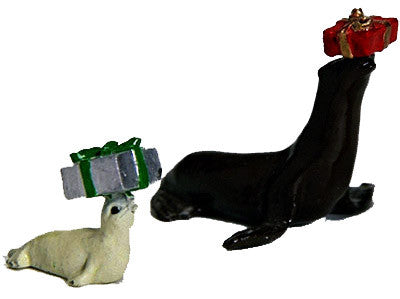 Kit# 9999 - Adult & Pup Christmas Seals with gifts
