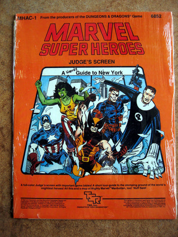 Marvel Super Heroes - Judge's Screen A Hero's Guide to New York MINT