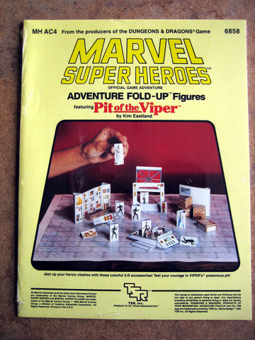 Marvel Super Heroes Adventure Fold Up Figures - PIT OF THE VIPER - MINT
