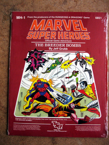 Marvel Super Heroes Official Adventure Game The Breeder Bombs - MINT
