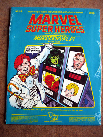 Marvel Super Heroes TSR Murderworld MINT