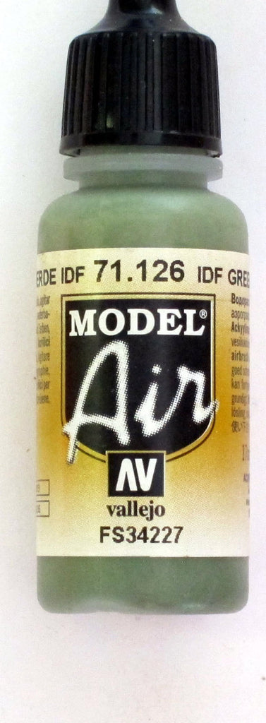 71126 Vallejo Model Airbrush Paint 17 ml IDF Green
