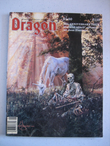 Dragon Magazine #110 Vintage VG+