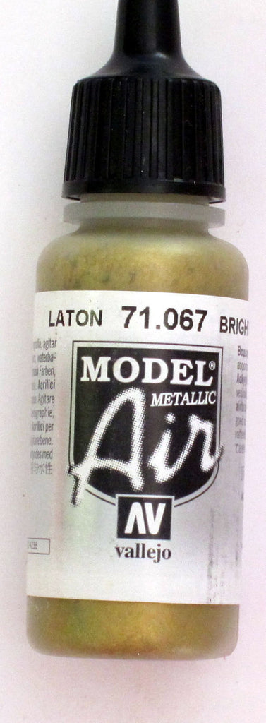 71067 Vallejo Model Airbrush Paint 17 ml Metallic Bright Brass
