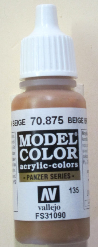 70875 Vallejo Model Color Paint: 17ml  Beige Brown  (M135)
