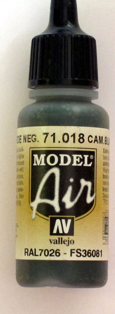 71018 Vallejo Model Airbrush Paint 17 ml Camouflage Black Green
