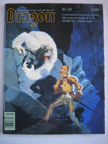 Dragon Magazine #109 Vintage VG+