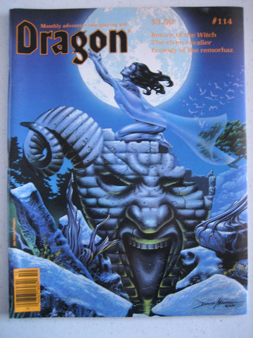 Dragon Magazine #114 Vintage VG+