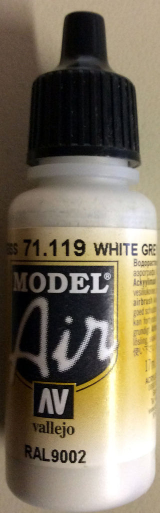 71119 Vallejo Model Airbrush Paint 17 ml White Grey
